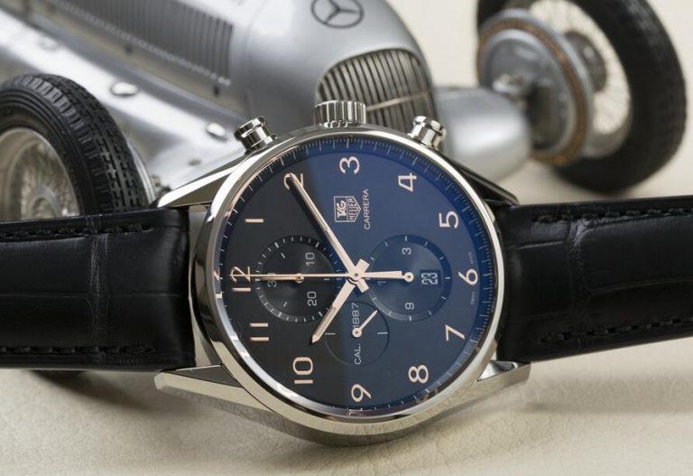 Tag heuer carrera calibre chronograph leather men's watch car2afc $2, купить сейчас.