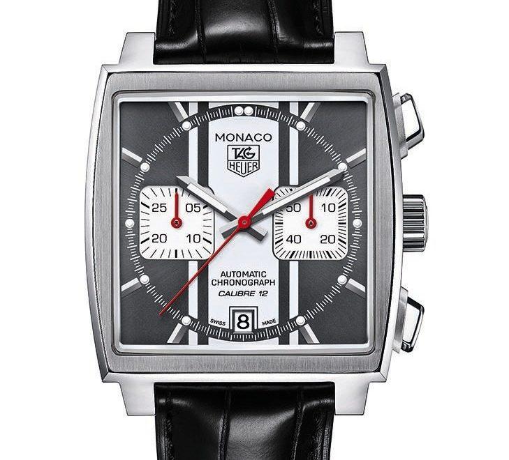 89483fd1632 Replica Tag Heuer Monaco Automatic Chronograph Black Dial Black ...